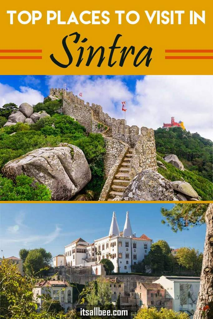 Top Places To Visit In Sintra | Must See Attractions in Portugal's Coastal Town #lisbondaytrip #traveltips #lisboa #portugal #traintravel #penapalace