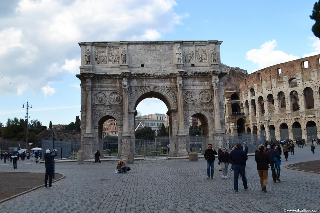 Constantine Arch Rome - Rome Itinerary 4 days - How to Make The Most of Your Time In Rome & Vatican City
