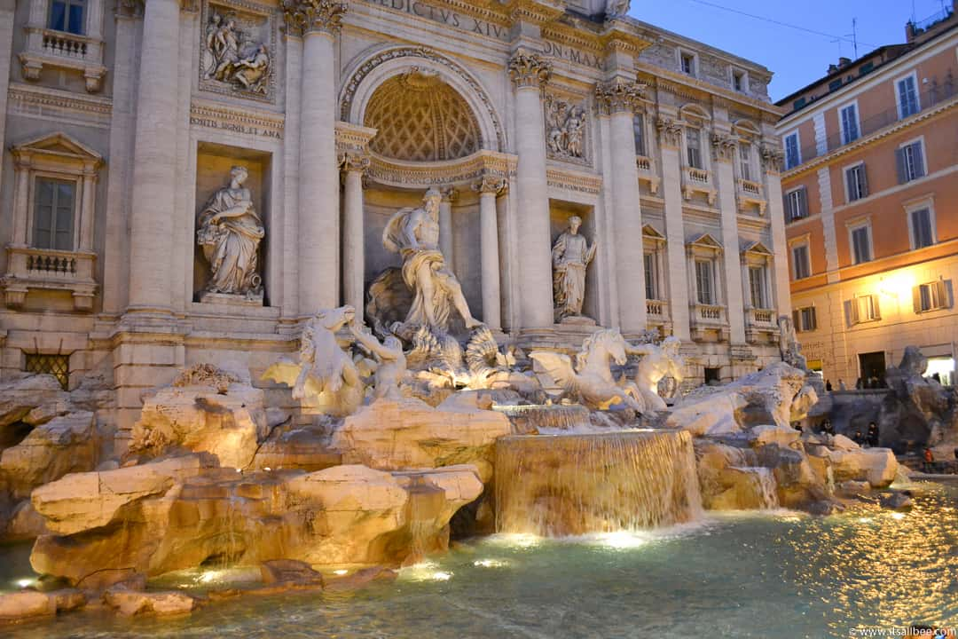 Trevi Fountain in Rome - Rome Itinerary 4 days - How to Make The Most of Your Time In Rome & Vatican City