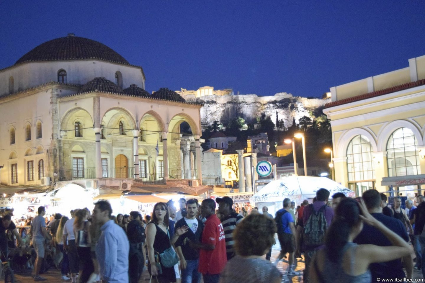 Monastiraki Square At Night