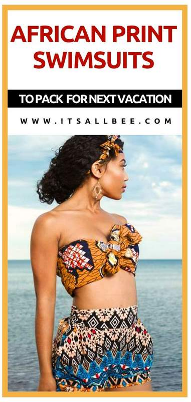 Stunning Kente print swimsuits & African Print Swimwear For Your Next Beach Vacation