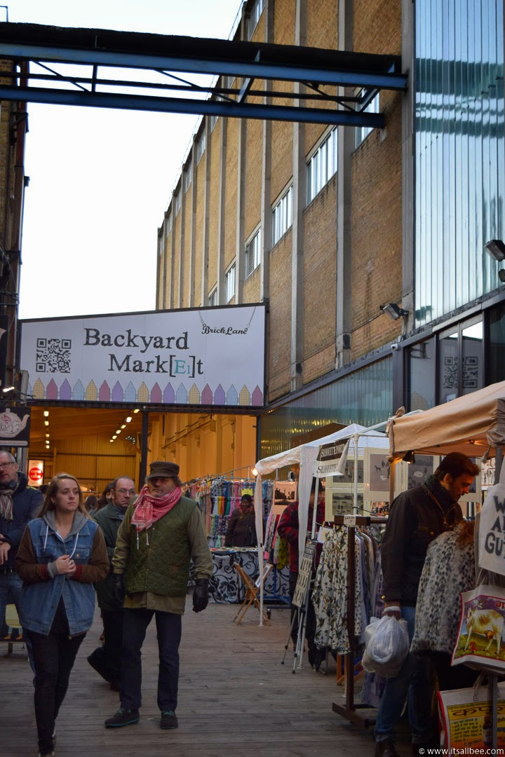 Backyard market in Brick Lane