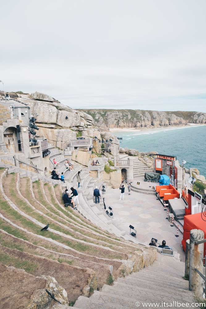 Visiting The Beautiful Open Air Minack Theatre In Cornwall - Plus tips on how to get to Minack Theatre from London, Penzance or St Ives, tips on hotels near Minack Theatre, PLUS Minack Theatre Photos #cornwall #surfing #british #uk #england #beaches #thingstodo