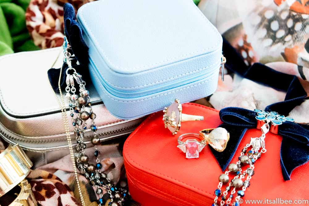 The Best Travel Jewelry Cases - These Personalized Jewelry Cases are Travel-Approved - Jewellery storage box #jewellerycase #jewellerybox #travel #organiser #trips #expensive jewellery www.itsallbee.com