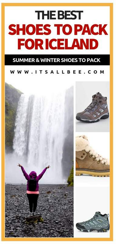 Iceland Essentials - The Best Hiking Boots For Iceland - Tips for the best shoes for Iceland, good boots for iceland in winter and summer. Walking shoes, snow boots and more. Everything you need to know about shoes to pack for Iceland for various activities. #traveltips #itsallbee #trip #adventure #winter #besttimetovisit www.itsallbee.com #europe #hiking #glacier #lagoon