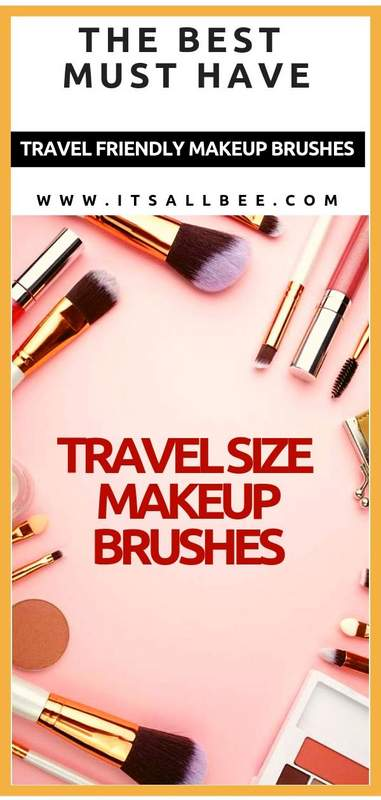 Go Places With These Travel Friendly Makeup Brush Sets - travel makeup bag essentials  - Travel size makeup brushes #makeup #traveltip #packingtips #itsallbee #makeupbrushes #brushsets #makeuppalattes #eyemakeup #foundation #blusher #eyeshadow makeup brushes set affordable