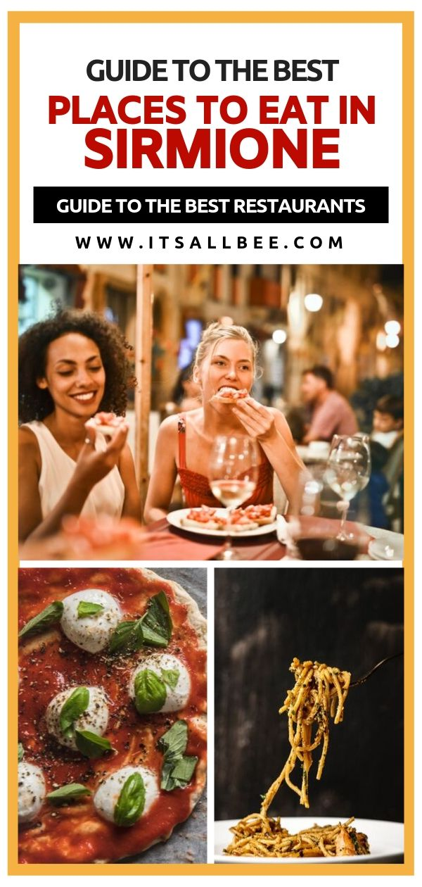 Best Places To Eat In Lake Garda - A Guide To The Best Restaurants In Sirmione Lake Garda. Lake Garda restaurants - sirmione castle - sirmione lake garda beautiful places to eat by the lake - sirmione lake garda trips #italy #lakes #food #gelato #pizza #dessert #tiramsu #cannoli