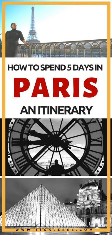 How To Spend 5 Days In Paris - The Perfect Paris Itinerary 5 Days of Exploring - Things To Do In Paris Night & Day - Tips on where to stay in Paris and the best tours as well as day trips from Paris. #itinerary #parisoutfits #packing #traveltip #itsallbee #europe Paris first time visit #seine #louvre #eiffeltower