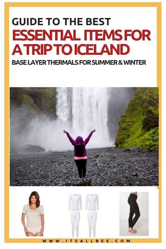 Iceland essentials for winter and summer packing list - The best thermals for Iceland. Tips on travel essentuals for winter, warm clothes for winter season, packing list for cold weather trip. #iceland #winter #summer #february #december #november #march #traveltips #europe #weather #reykjavik #itsallbee #adventure #blogger