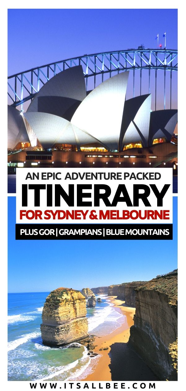 sydney vs melbourne - Which one to choose? Both with this epic Melbourne and Sydney itinerary. Explore the Blue Mountains, Great Ocean Road, Grampians, Bondi Beach, Manly, Brighton Beach Bathing Boxes Beach, St Kilda. With options for melbourne to sydney road trip or flying. The perfect Sydney itinerary for 5 days the to Melbourn. Everthing you need to know to plan your trip to Australia. #traveltips #flights #solotrip #female #traveller #downunder #aussie #roadtrip #oceania #itinerary