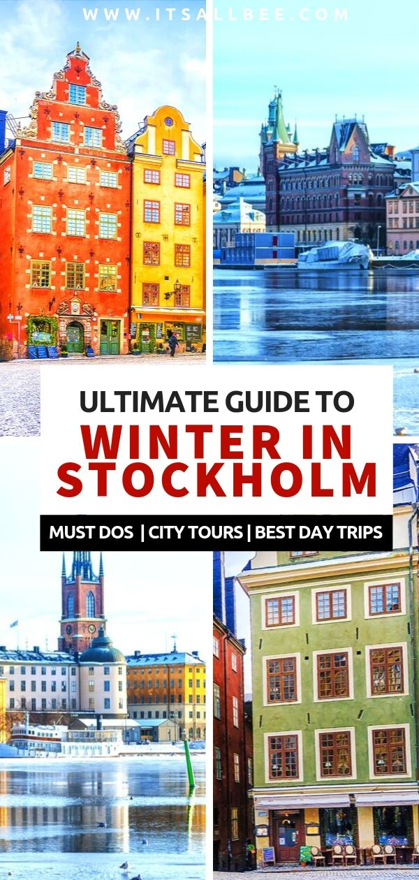 Guide To Stockholm in winter - best places to visit in stockholm in winter, best day trips, markets, museums and palaces. Tops things to do in Stockholm in December, January and February. Whether you want to do Stockholm in a day, 2 day, 3 days of more.  #winter #europe #skiing #citybreak #sweden. stockholm travel tips - stockholm travel guide - stockholm travel winter