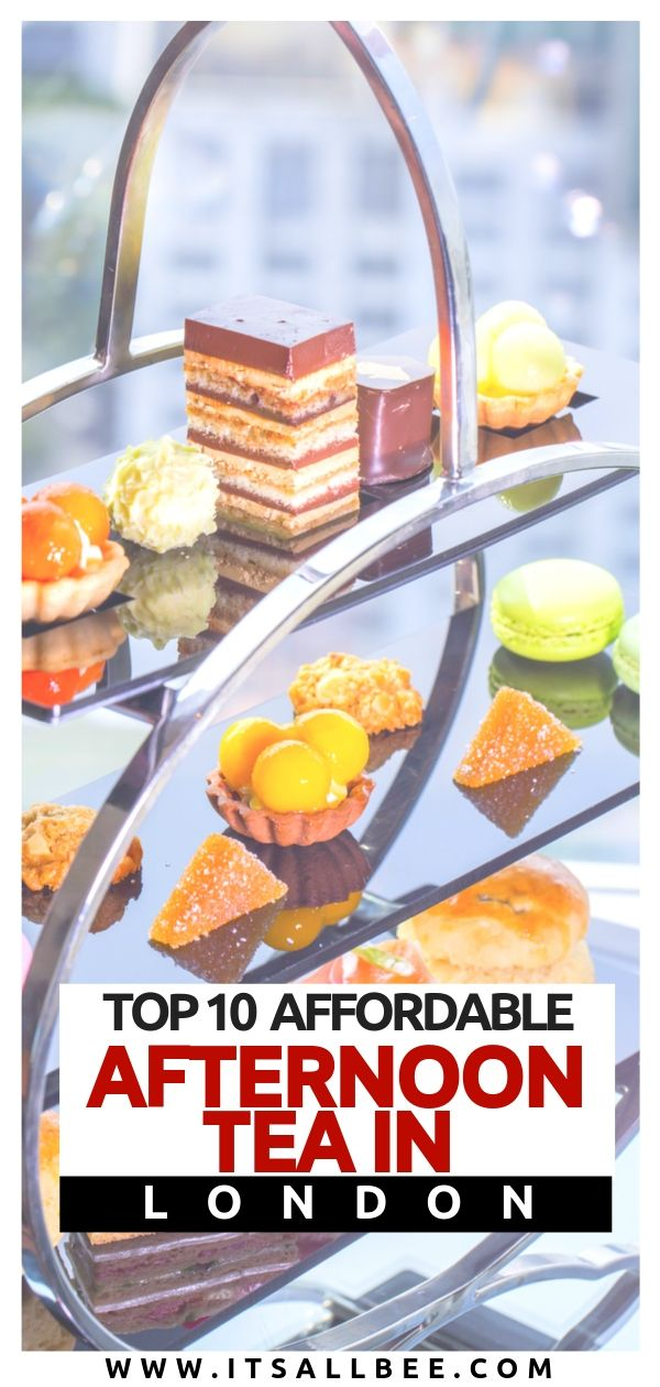 Affordable afternoon tea in london - Top 10 deliciously cheap afternoon tea in London that will not break the bank! From afternoon tea on a boat where you cruise and see London sights to the tasty delights you can woof down in London's coolest hotel restaurants. All under £30 and many under £10 person. #afternoontea #cruise #tips #london #travel #foodie #afternoonoutfits