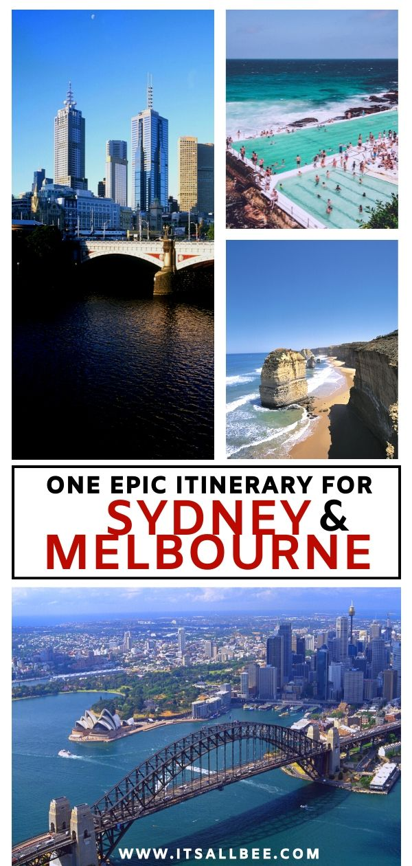 The perfect Sydney and Melbourne itinerary. An epic adventure packed itinerary with trips to Blue Mountains, Great Ocean Road, Grampians, Bondi Beach, Manly, Brighton Beach Bathing Boxes Beach, St Kilda. With options for sydney to melbourne roadtrip or flying. #traveltips #flights #solotrip #female #traveller #blogger #noire #downunder #aussie #roadtrip #oceania #itinerary