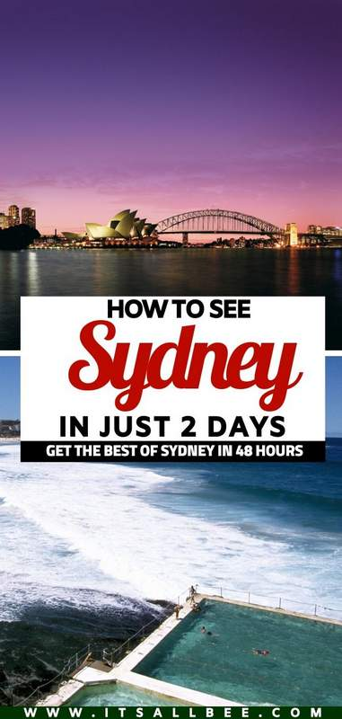 2 days in sydney things to do   what to see in sydney in 2 days
