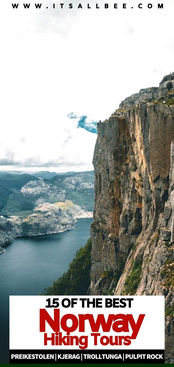 Hiking in Norway fjords | norway fjord hiking tours | Preikestolen | Kjerag | Trolltunga | Pulpit Rock