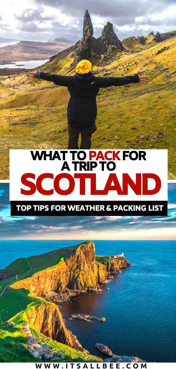 Scotland packing list | what to pack for Scotland in September | what to wear in Scotland | shoes for scotland | jackets for scotland
