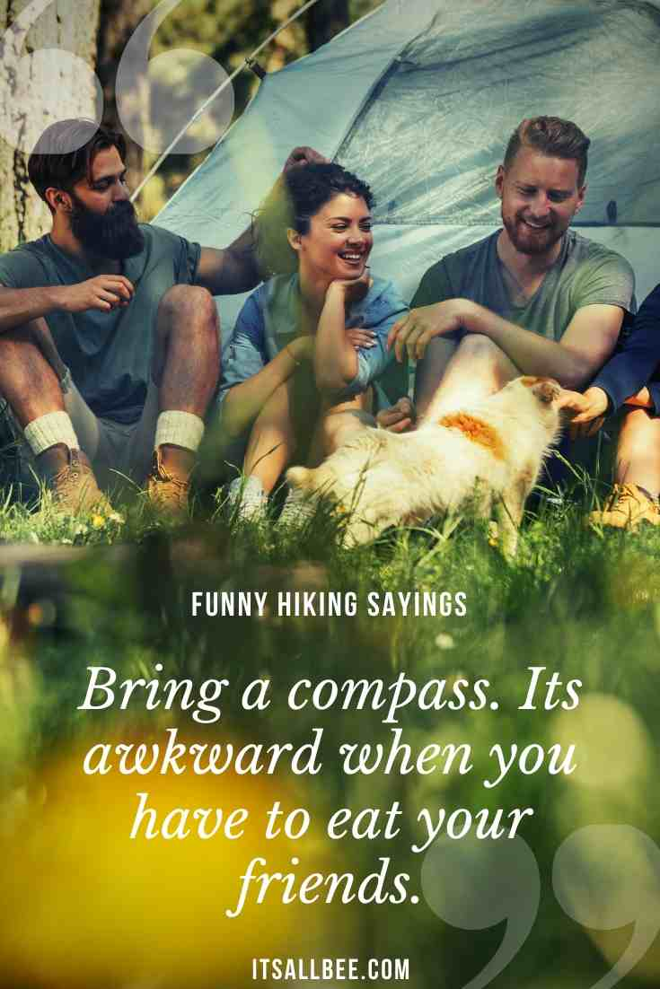 funny hiking quotes sayings for nature lovers