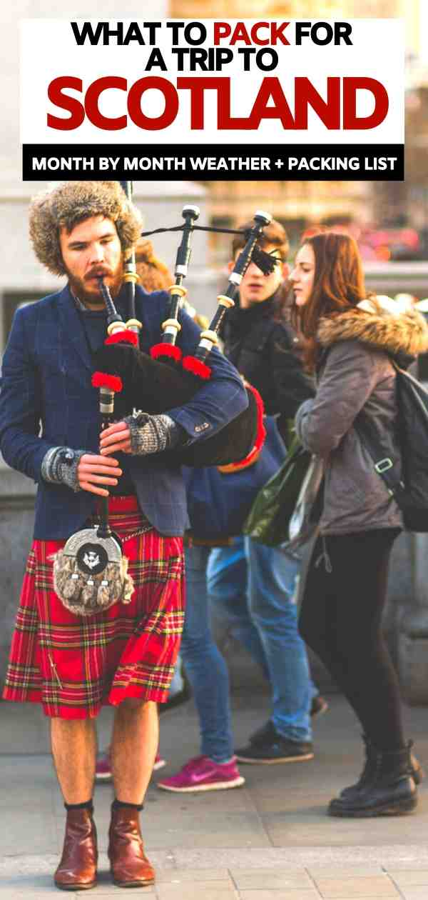 Scotland packing list | what to pack for Scotland in October | what to wear in Scotland | shoes for scotland | jackets for scotland
