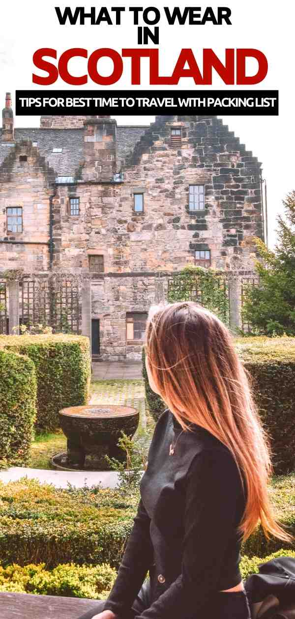 Scotland packing list | what to pack for wear in edinburgh Scotland June | what to wear in Scotland | shoes for scotland | jackets for scotland