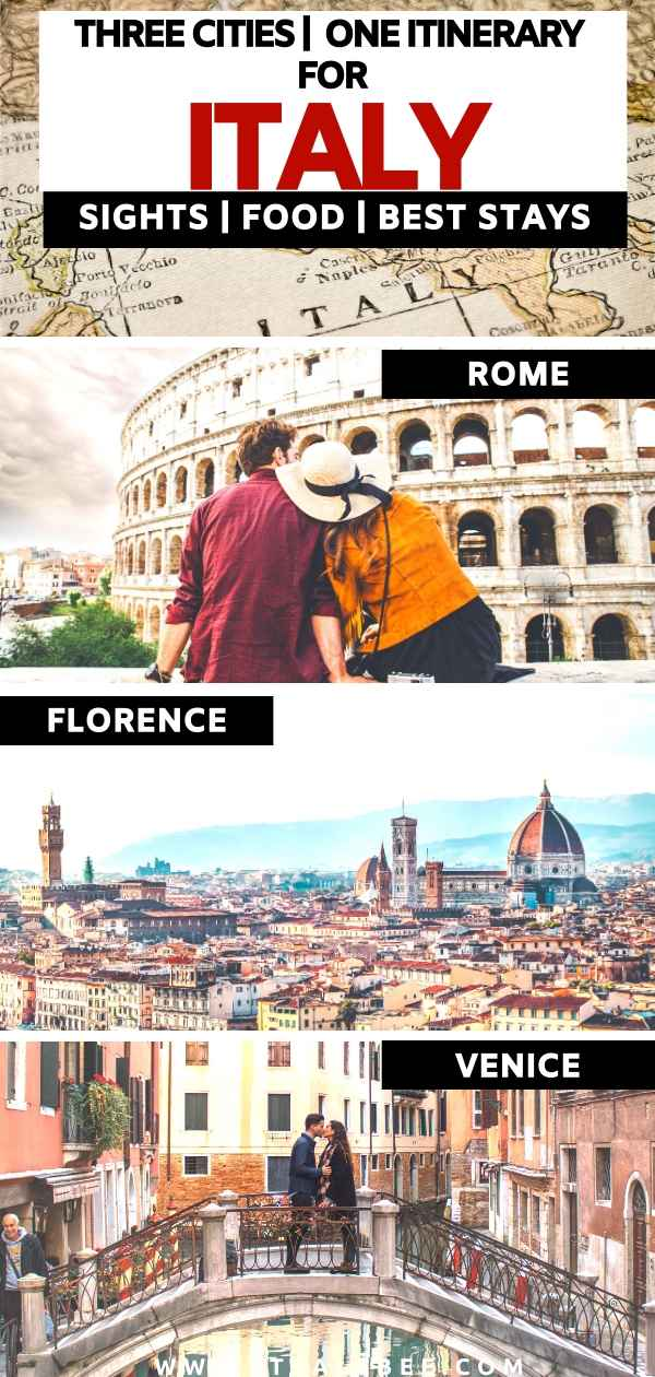 Italy itinerary of rome florence venice