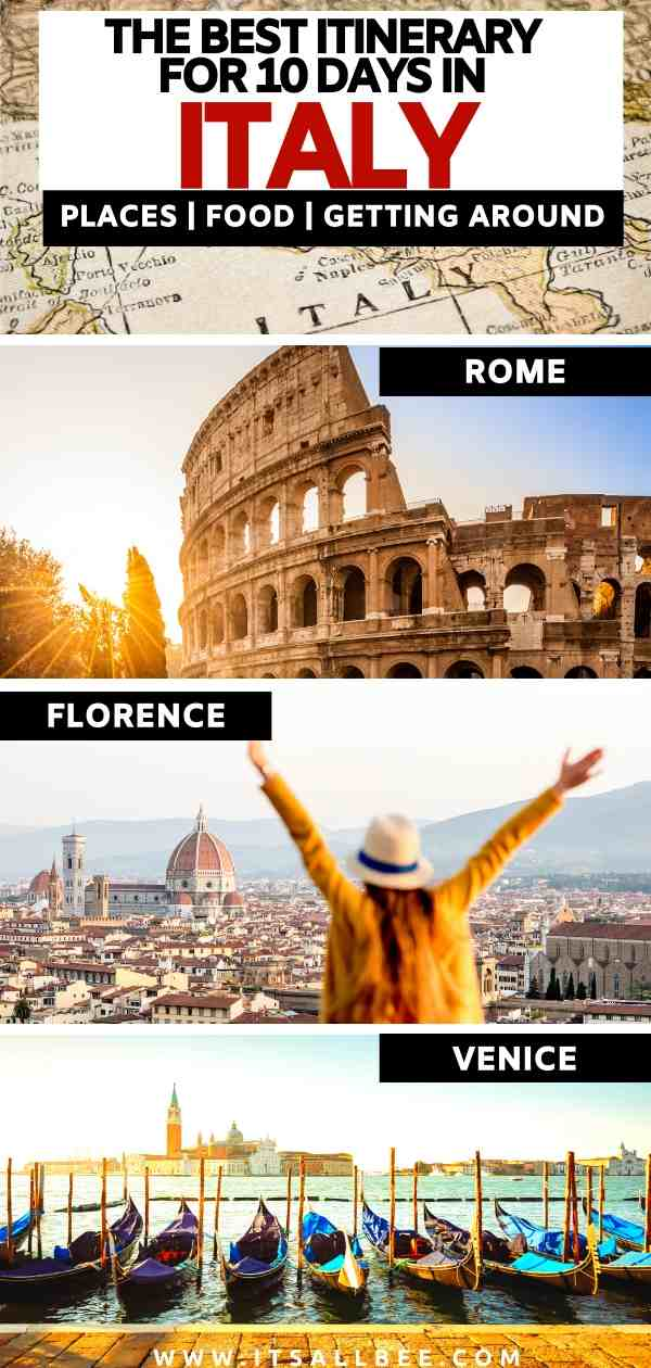10 day itinerary Rome florence venice | rome venice florence trip