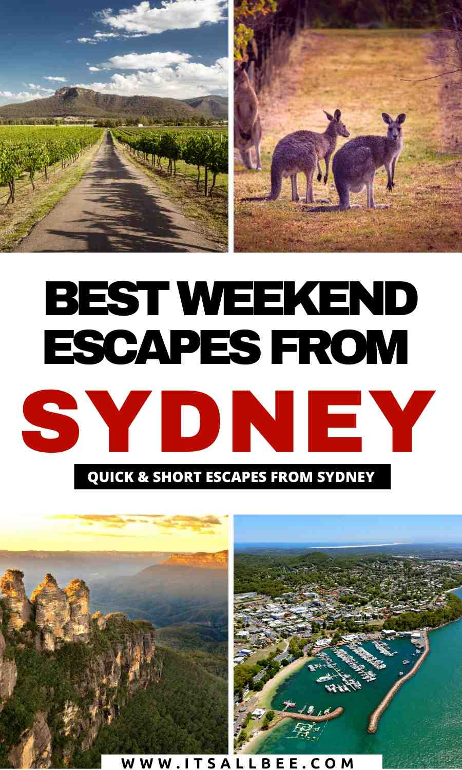 short escapes from sydney